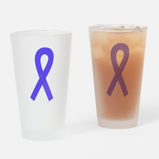 Periwinkle Ribbon Drinking Glass