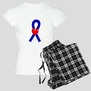 Blue Ribbon Heart Women's Light Pajamas