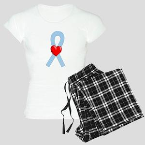 Lt Blue Ribbon Women's Light Pajamas