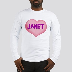 janet heart Long Sleeve T-Shirt