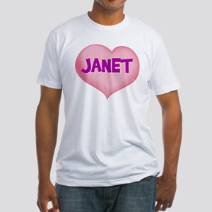 janet heart Fitted T-Shirt