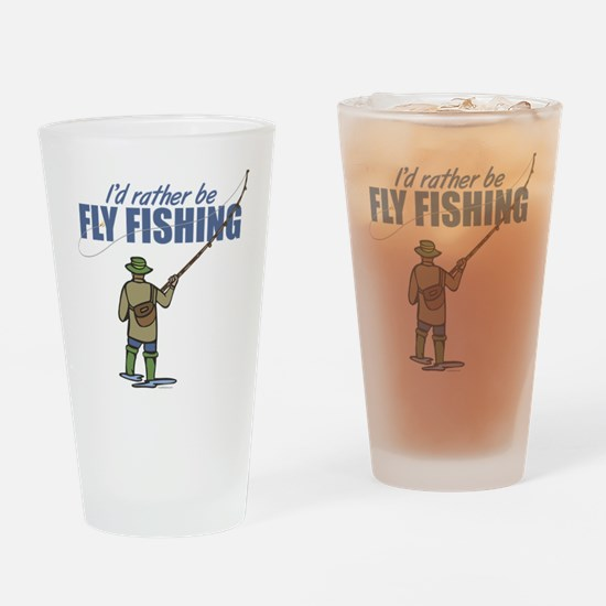 Fly Fishing Drinking Glass