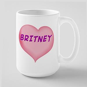 britney heart Large Mug