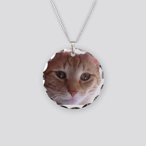 Mr. Munchkin Face Necklace Circle Charm