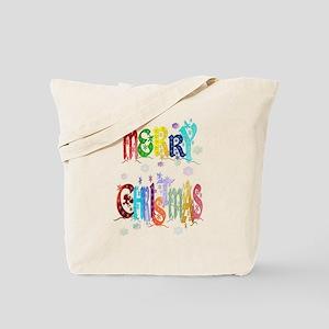 Colorful Merry Christmas Tote Bag