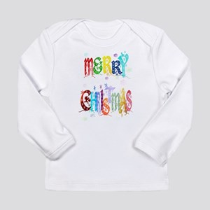 Colorful Merry Christmas Long Sleeve Infant T-Shir