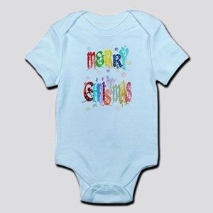 Colorful Merry Christmas Infant Bodysuit