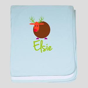 Elsie the Reindeer baby blanket