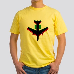 Big Bang Theory Airplane Yellow T-Shirt