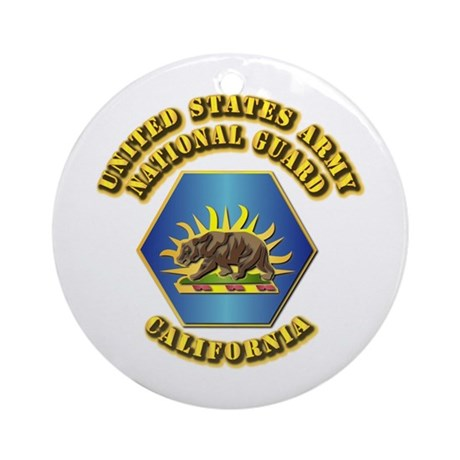 Army National Guard - California Ornament (Round)
