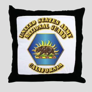 Army National Guard - California Throw Pillow