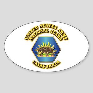 Army National Guard - California Sticker (Oval)