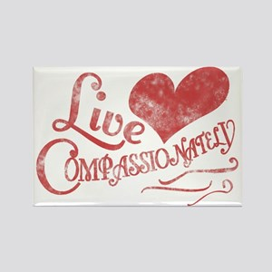 Heart Compassion Rectangle Magnet