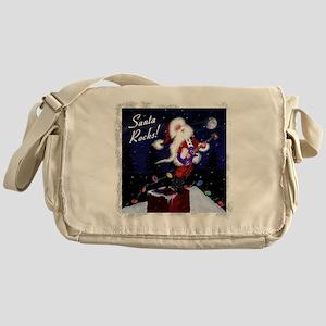 Santa's Guitar Messenger Bag