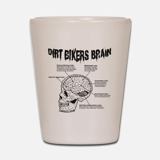 Dirt Bikers Brain Shot Glass