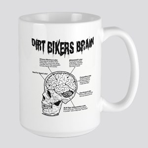 Dirt Bikers Brain Large Mug