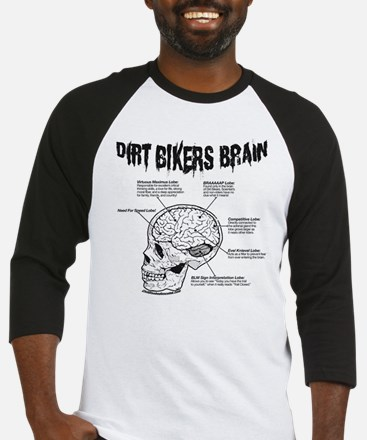 Dirt Bikers Brain Baseball Jersey