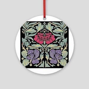 Morris Rose Ornament (Round)