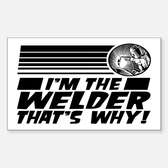 Funny Welder Sticker (Rectangle)