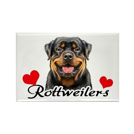 Love Rottweilers Rectangle Magnet