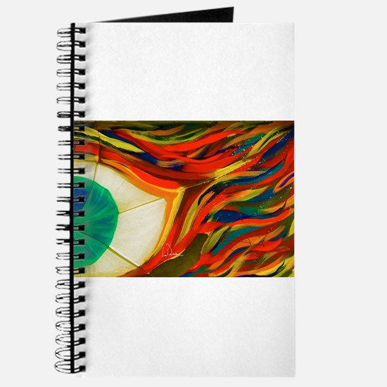 Firey Shattered Green Eye Journal