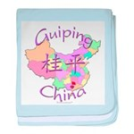 Guiping China Map baby blanket