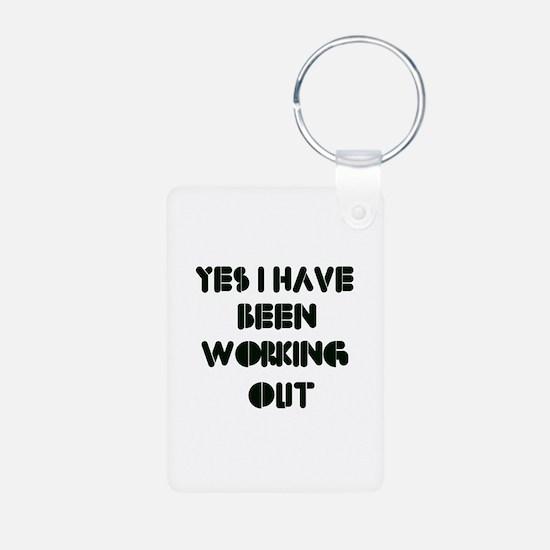 Funny gym designs Keychains