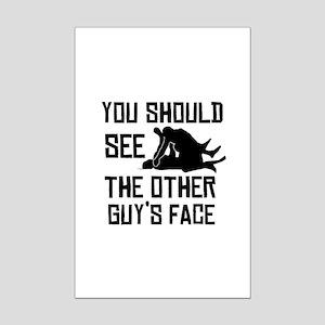 Cool MMA design Mini Poster Print