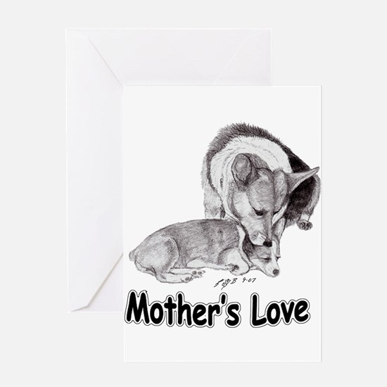 Corgi Mother's Love Greeting Card