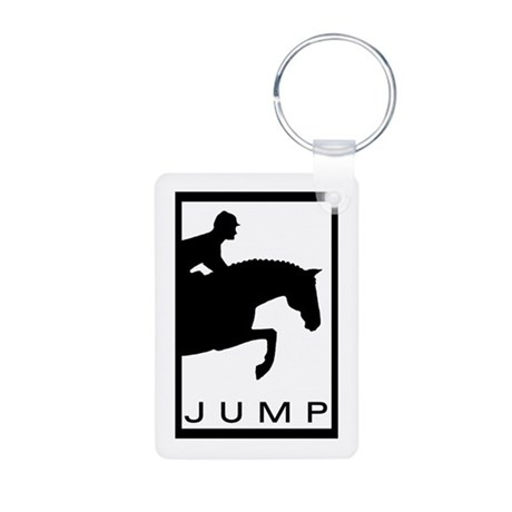 """JUMP"" Hunter Jumper Aluminum Photo Keychain"