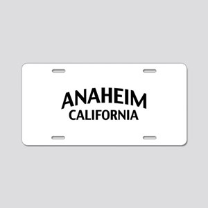 Anaheim California Aluminum License Plate