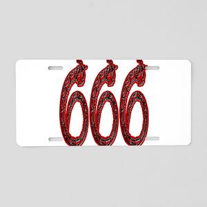 666 Snakes Aluminum License Plate
