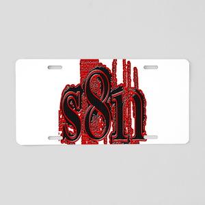 S8N (new) Aluminum License Plate