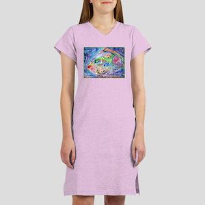 Fish, tropical, art, Women's Nightshirt