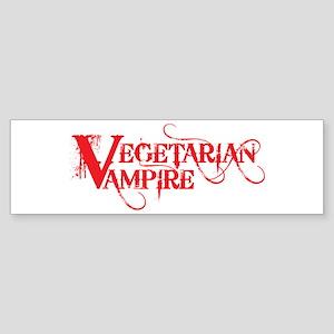 Vegetarian Vampire Sticker (Bumper)