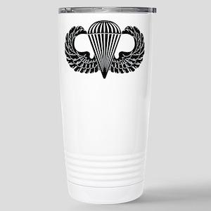 Parachutist -- B-W Stainless Steel Travel Mug