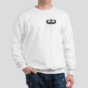 Parachutist -- B-W Sweatshirt