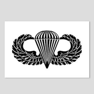 Parachutist -- B-W Postcards (Package of 8)