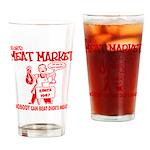 Dicks Meat Market Drinking Glass