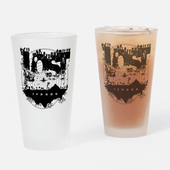 The Island LOST Drinking Glass