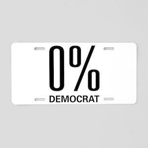 0% Democrat Aluminum License Plate