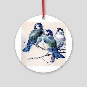Winter Bluebirds Ornament (Round)