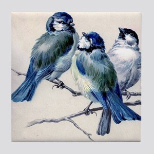 Winter Bluebirds Tile Coaster