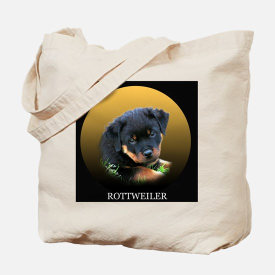 Rottweiler Puppy on Bags etc Tote Bag