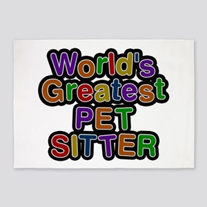 World's Greatest PET SITTER 5'x7' Area Rug