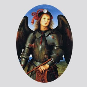The Archangel, Saint Michael Ornament (Oval)