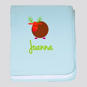 Joanna the Reindeer baby blanket
