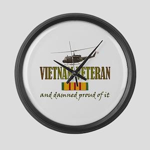 Proud Vietnam Veteran Large Wall Clock