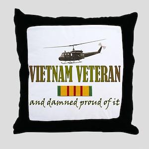 Proud Vietnam Veteran Throw Pillow