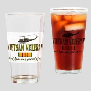 Proud Vietnam Veteran Drinking Glass